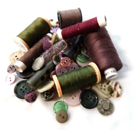 Cotton thread and buttons
